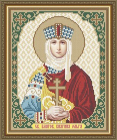 Схема вышивки бисером на габардине Св. Благоверная Княгиня Ольга Art Solo VIA4160 - 45.00грн.