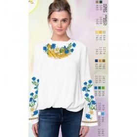 Заготовка женской сорочки на белом габардине Biser-Art SZ78 - 320.00грн.