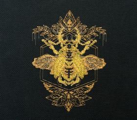 Набор для вышивки крестом Золотой жук