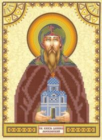 Схема для вышивки бисером на холсте Святой Даниил