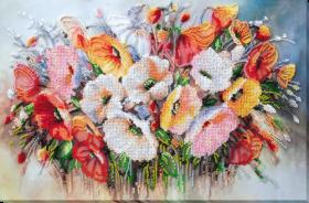 Набор для вышивания бисером Нежные цветы  Абрис Арт АВ-805 - 560.00грн.