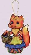 Набор для изготовления игрушки из фетра для вышивки бисером Лисичка