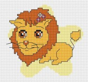 Набор для вышивки крестом Лев