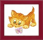 Набор для вышивки крестом Знакомство с бабочкой