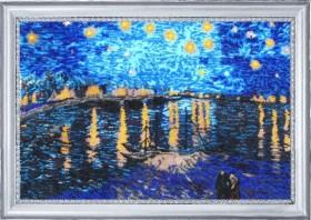 Набор для вышивки бисером Звездная ночь над Роной (по мотивам В. Ван Гога)