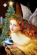 Схема для вышивки бисером на атласе Ангел Рождества