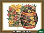 Рисунок на ткани для вышивки бисером Хохлома. Клубника