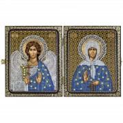 Набор для вышивки иконы в рамке-складне Св. Прав. старица Матрона Московская и Ангел Хранитель