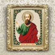 Схема вышивки бисером на габардине Св. Павел