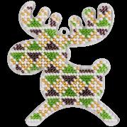 Набор для вышивки елочной игрушки на пластиковой основе Олень