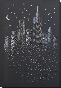 Набор для вышивки бисером на натуральном художественном холсте Блеск ночных огней Абрис Арт АВ-755 - 327.00грн.