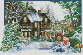 Набор для выкладки алмазной мозаикой Времена года: Зима Алмазная мозаика DM-291 - 1 400.00грн.