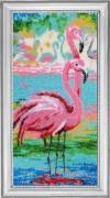 Набор для вышивки бисером Вечерние фламинго