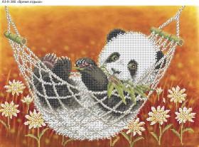 Схема для вышивки бисером на габардине Время отдыха, , 70.00грн., А3-К-380, Acorns, Коты, бабочки, волки и птицы
