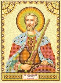 Схема для вышивки бисером на холсте Святой Александр