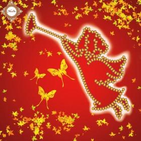 Схема-миниатюра для вышивки бисером Осенний ангел
