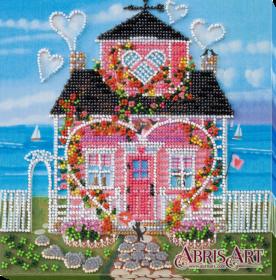 Набор-миди для вышивки бисером на натуральном художественном холсте Там, где живет любовь