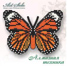 Набор-магнит для выкладки алмазной мозаикой Полосатый тигр (Danaus genutia) Art Solo БАТ06