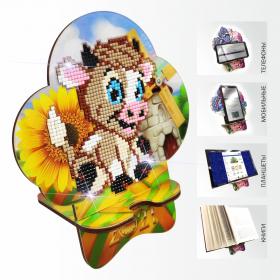 Подставка под телефон с алмазной мозаикой Бычок