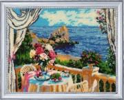 Набор для вышивки бисером Завтрак с видом на море