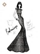 Схема для вышивки бисером на атласе Дом Моды Balenciaga