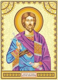 Схема вышивки бисером на холсте Святой Платон