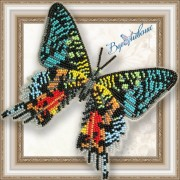 Набор для вышивки бисером на прозрачной основе Бабочка Урания Мадагаскарская
