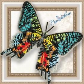 Набор для вышивки бисером на прозрачной основе Бабочка Урания Мадагаскарская Вдохновение BGP-043 - 155.00грн.