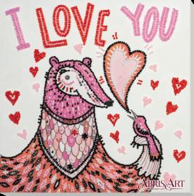Набор для вышивки бисером на холсте Влюблённый Абрис Арт АМВ-056 - 219.00грн.