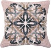 Набор для вышивки подушки крестиком Розовый орнамент
