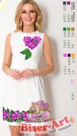Заготовка женского платья на белом габардине Biser-Art Bis70115 - 350.00грн.
