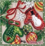 Набор-мини для вышивки бисером на натуральном художественном холсте Праздничные мелочи