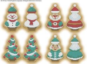 Схема для вышивки бисером на габардине Новогодние игрушки Рождественское печенье Acorns А3-К-422 - 70.00грн.