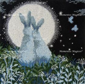 Набор для вышивки крестом Лунные зайцы Чарiвна мить (Чаривна мить) М-458 - 375.00грн.