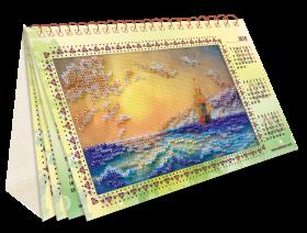 Набор для вышивки бисером Календарь Шум прибоя   Абрис Арт АКМ-001 - 207.00грн.