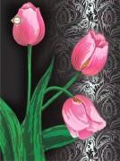 Схема для вышивки бисером на атласе Розовый бархат