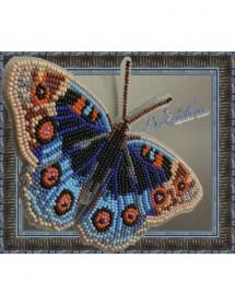 Набор для вышивки бисером на прозрачной основе Бабочка Анютины Глазки