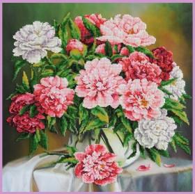 Набор для вышивки бисером Пионы Картины бисером Р-411 - 867.00грн.