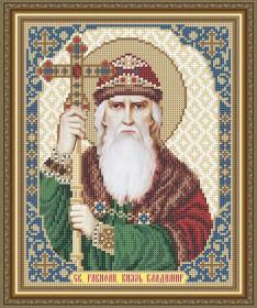 Схема вышивки бисером на габардине Св. Равноап. Князь Владимир Art Solo VIA4157 - 45.00грн.