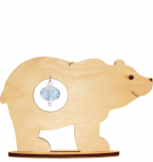 Набор новогоднее украшение из фанеры Медведь