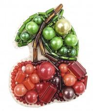 Брошь из бисера Вишенка Cristal Art БП-243