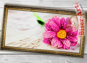 Схема вышивки бисером (нитками) на габардине Квітка Biser-Art 37425 - 130.00грн.