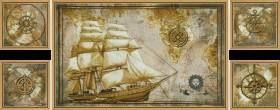 Набор для вышивки крестом Морское путешествие (Полиптих), , 546.00грн., СВ6584, Новая Слобода (Нова слобода), Картины из нескольких частей
