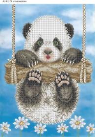 Схема для вышивки бисером на габардине На качелях, , 70.00грн., А3-К-379, Acorns, Коты, бабочки, волки и птицы