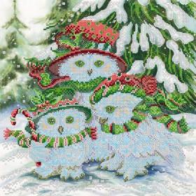 Схема вышивки бисером на холсте Семейные каникулы