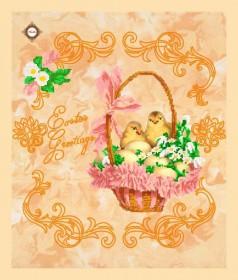 Схема вышивки бисером на габардине Салфетка Поздравления с Пасхой Миледи СЮ-002 - 132.00грн.