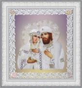 Набор для вышивки бисером Святые Петр и Феврония (ажур) серебро
