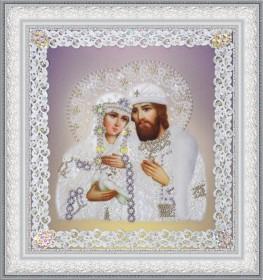 Набор для вышивки бисером Святые Петр и Феврония (ажур) серебро Картины бисером Р-376 - 230.00грн.