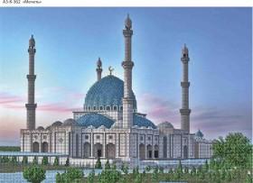 Схема для вышивки бисером на габардине Мечеть, , 70.00грн., А3-К-362, Acorns, Пейзажи и натюрморты