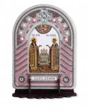 Набор для вышивки иконы с рамкой-киотом Святые Петр и Февронья Новая Слобода (Нова слобода) ВК1008